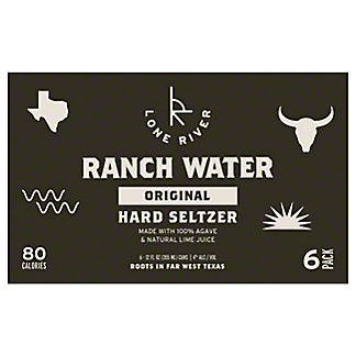 Ranch Water Hard Seltzer, 6 pk Cans, 12 fl oz ea