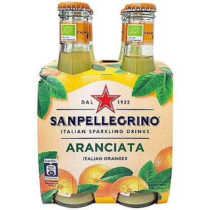 Sanpellegrino Organic Italian Sparkling Drinks Aranciata, 6.75 fl oz Glass Bottles, 4 pk