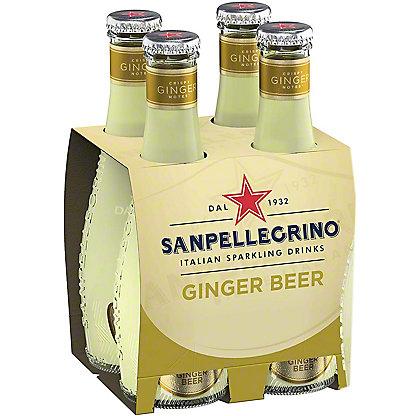 Sanpellegrino Organic Italian Sparkling Ginger Beer, Glass Bottle, 4 ct, 6.75 fl oz