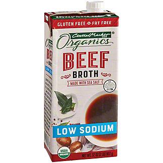 Central Market Organics Low Sodium Beef Broth, 32 oz