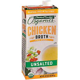 Central Market Organics Unsalted Chicken Broth, 32 oz