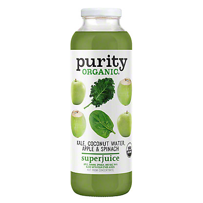 Purity Organic Kale Coconut Water Apple & Spinach SuperJuice, 16 oz