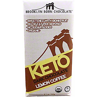 Brooklyn Born Chocolate Lemon Coffee Keto Dark Chocolate Bar, 2.1 oz