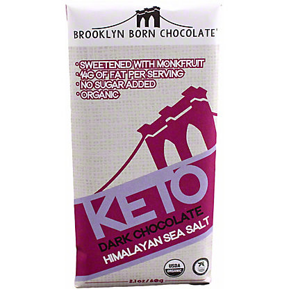 Brooklyn Born Chocolate Himalayan Sea Salt Keto Dark Chocolate Bar, 2.1 oz