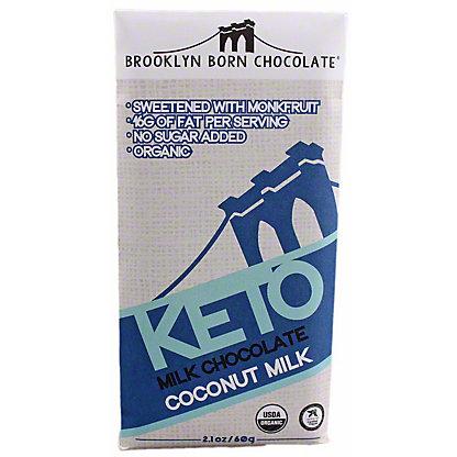 Brooklyn Born Chocolate Coconut Milk KetoMilk ChocolateBar, 2.1 oz