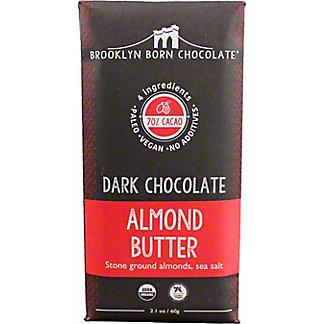 Brooklyn Born Chocolate Almond Butter DarkChocolate Bar, 2.1 oz