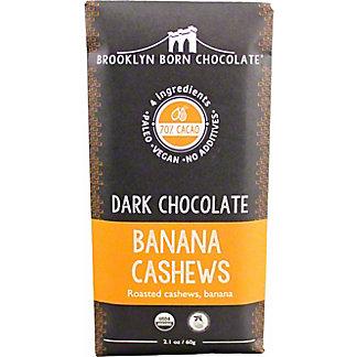Brooklyn Born Chocolate Banana Cashew Dark Chocolate Bar, 2.1 oz