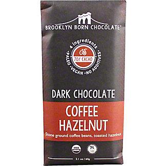 Brooklyn Born Chocolate Coffee Hazelnut DarkChocolate Bar, 2.1 oz