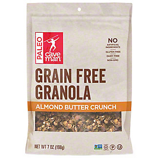 Caveman Grain Free Almond Butter Crunch Granola, 7 oz
