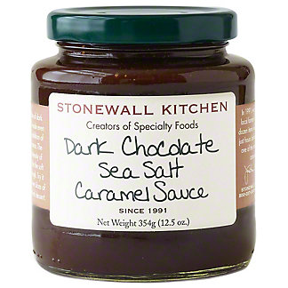 Stonewall Kitchen Dark Chocolate Sea Salt Caramel Sauce, 12.5 oz