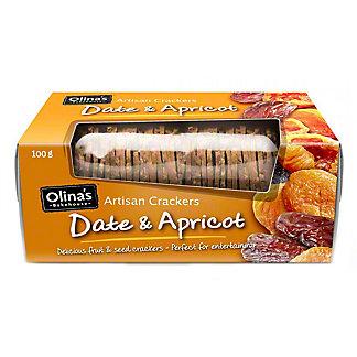 Olina's Bakehouse Date & Apricot Artisan Crackers, 3.5 oz