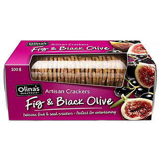 Olina's Bakehouse Fig & Black Olive Artisan Crackers, 3.5 oz
