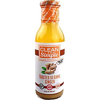 Clean And Simple Sesame Ginger Salad Dressing, 12 oz