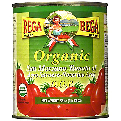 Rega Organic Whole Peeled San Marzano Tomatoes, 28 oz