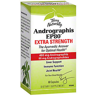 Terry Naturally Andrographis EP80 Extra Strength, 60 ct