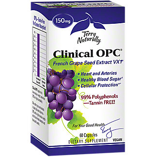 Terry Naturally Clinical OPC French Grape Seed Extract, 60 ct