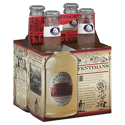 Fentimans Rose Lemonade Natural Soda, Bottles, 4 pk, 9.3 fl oz ea