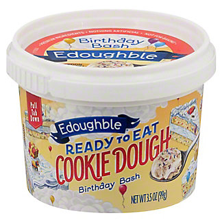 Edoughble Ready to Eat Birthday Bash Cookie Dough, 3.5 oz