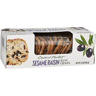 Central Market Sesame Raisin Olive Crisps, 5.3 oz