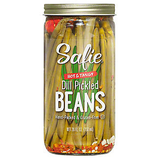 Safie Hot & Tangy Dill Pickled Beans, 26 oz