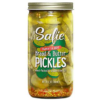 Safie Sweet & Hot Bread & Butter Pickles, 26 oz
