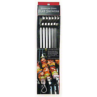 Charcoal Companion Stainless Steel Flat Skewers, 6 ct