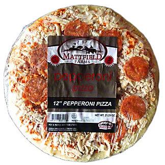 Mattfield Farms 12 Inch Pepperoni Pizza, 21.2 oz