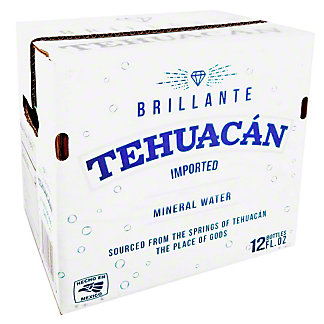 Tehuacan Still Natural Water, Glass Bottles, 12 pk, 12 fl oz ea