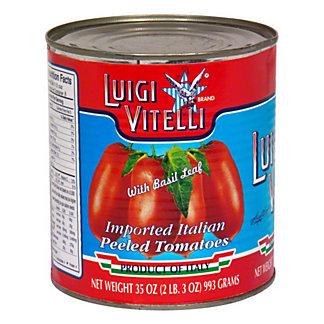 Luigi Vitelli Italian Peeled Tomatoes With Basil Leaf, 35 oz