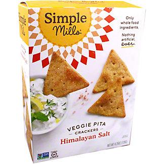Simple Mill Veggie Pita Crackers Himalayan Salt, 4.25 oz