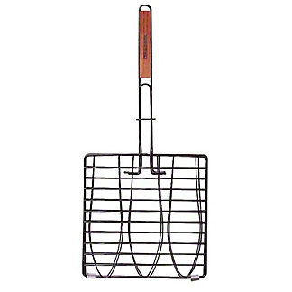 Charcoal Companion Nonstick Triple Fish Basket Fold Handle, ea