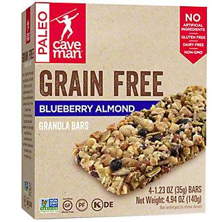 Caveman Grain Free Blueberry Almond Granola Bars, 4 pk