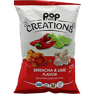 Poptime Creations Sriracha And Lime Popcorn, 5 oz