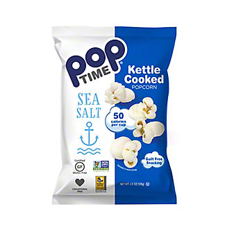 Poptime Sea Salt Kettle Popcorn, 4.5 oz
