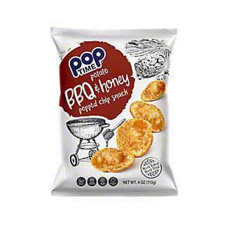 Poptime Potato BBQ & Honey Popped Chips, 4 oz