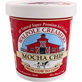 Walpole Creamery Mocha Chip Ice Cream, 1 pt