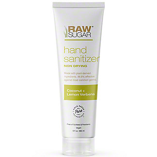 Raw Sugar Hand Sanitizer Coconut & Lemon Verbena, 9 oz