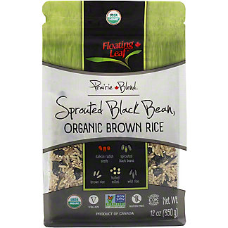 Floating Leaf Sprouted Black Bean Organic Brown Rice, 12 oz