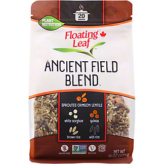 Floating Leaf Sprouted Crimson Lentils Wild Rice and Quinoa, 14 oz