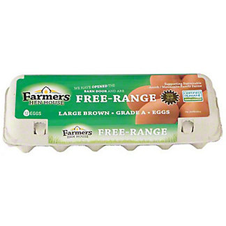 Farmers Hen House Free Range Large Brown Eggs, 12 ct
