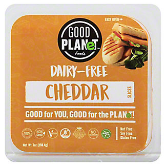 Good Planet Foods Dairy Free Cheddar Cheese Slices, 7 oz