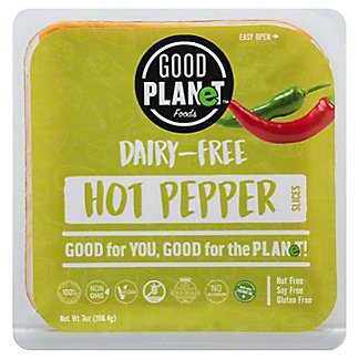 Good Planet Foods Dairy Free Cheese Hot Pepper Slices, 7 oz