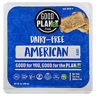 Good Planet Foods Dairy Free Cheese American Slices, 7 oz