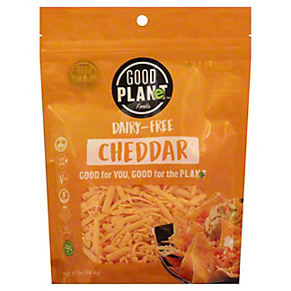 Good Planet Foods Dairy Free Cheddar Cheese Shreds, 7 oz