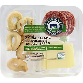 Niman Ranch Genoa Salame, Provolone and Taralli Crackers Snack Pack, 3 OZ
