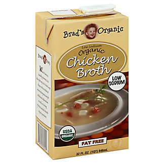 Brad's Organic Low Sodium Chicken Broth, 32 fl oz
