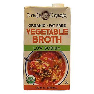 Brad's Organic Low Sodium Vegetable Broth Kosher, 32 fl oz