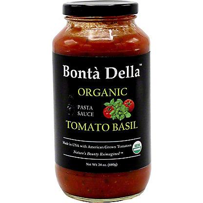 Bonta Della Organic Tomato Basil Pasta Sauce, 25 oz