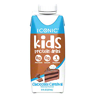 Iconic Kids Chocolate Carnival Protein Drink, 8 fl oz