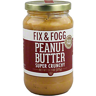 Fix & Fogg Super Crunchy Peanut Butter, 13.2 oz